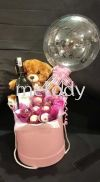 Wine & chocolate gift Red wine gift Flower Balloon Gift  Box Gift Hampers