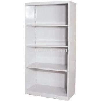 Full height open shelf steel cabinet