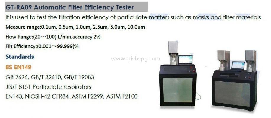 Automatic Filter Efficiency Tester