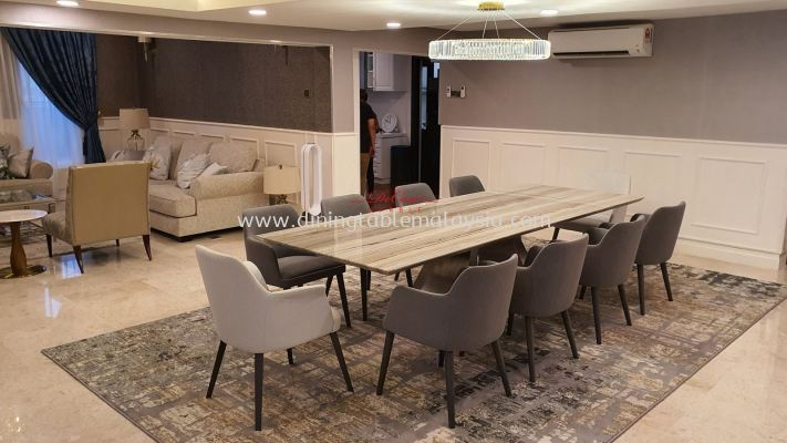 Majestic Dining Table | Palisandro | 10 Seaters | 10 ft