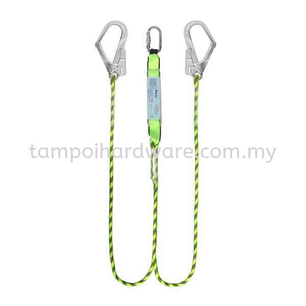 Safety Double Lanyard & Large Hook With Absorber  Fall Protection Equipment Personal Protective Equipments