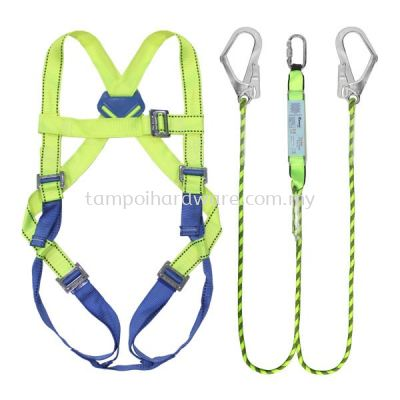 Full Body Safety Harness With Double Hooks Lanyar R-91-SH089