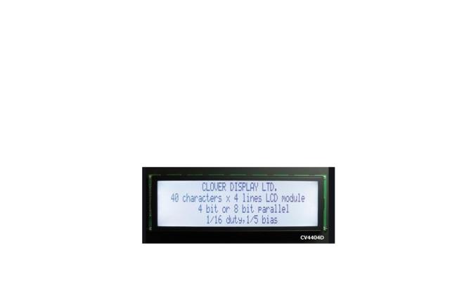 Clover Display CV4162F Module Size L x W (mm) 80.00 x 36.00