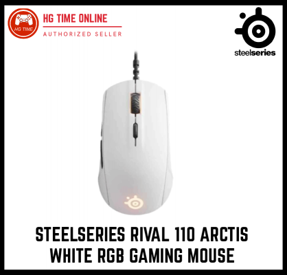 SteelSeries RIVAL 110 Arctis White RGB Gaming Mouse | 62468 | Optical Sensor