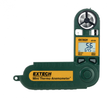 EXTECH 45158 : Mini Thermo-Anemometer with Humidity