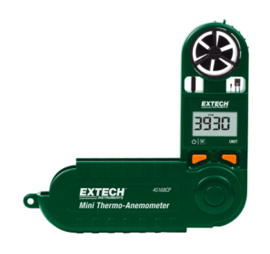 EXTECH 45168CP : Mini Thermo-Anemometer with Built-in Compass
