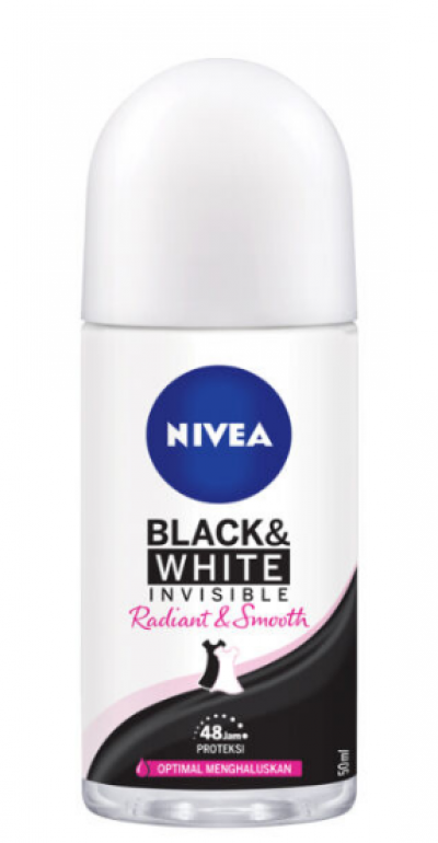 Nivea Women Roll-on Deodorant 50ml Invisible Black & White Radiant Smooth
