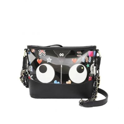 EYE THEME FASHION TRANSPARENT CROSSBODY BAG