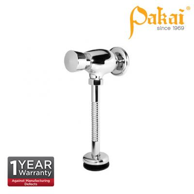 Pakai Exposed Delay Action Urinal Flush Valve wt Rubber Inlet Spud, Semiflex Flush Pipe and Flange C
