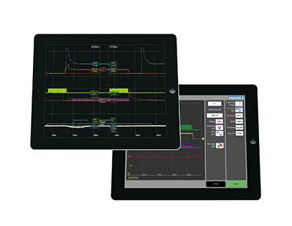 HIOKI-iPad App for Memory HiCorder HMR Terminal