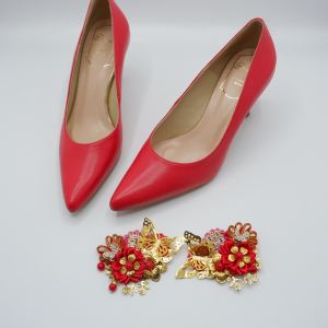 Bright red lamb pattern Customised and uniquely created for our bride Ms Yiling Kam