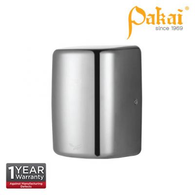 Pakai Automatic High Speed Hand Dryer in Satin Stainless Steel Casing with UV Sterilization Light
