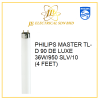 PHILIPS MASTER TL-D 90 De Luxe 36W/950 SLV/10 (4 FEET) PHILIPS TUBES PHILIPS LIGHTING