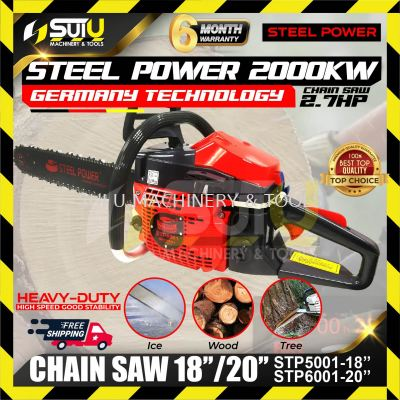 """STEEL POWER HIGH QUALITY STP5001 Chainsaw with 18"""" Guide Bar & Chain"""