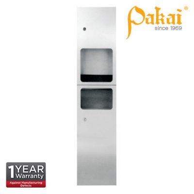 Pakai Automatic Hand Dryer / Waste Receptacle 2-In-One Hand Dryer PK-REC-2+1HD