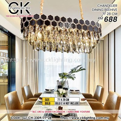 CK LIGHTING CHANDELIER DINING BEEHIVE 77X28CM (GZ-CH-2309/77*28)