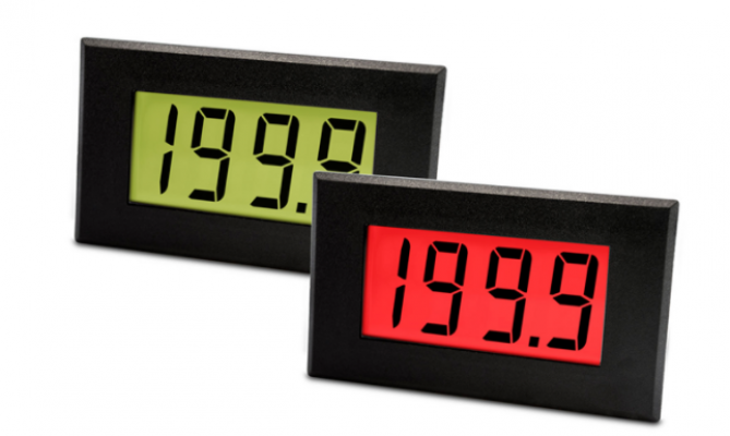 LASCAR DPM 950S-FPSI Large 200mV LCD Voltmeter with Red/Green Programmable Backlighting