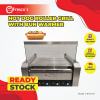HOT DOG ROLLER GRILL WITH BUN WARMER Warmer Showcase