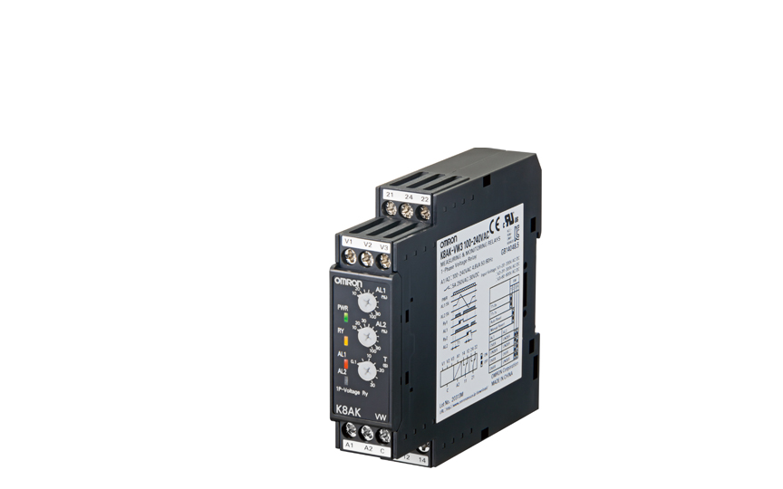 Omron K8AK-VW  Ideal for Voltage Monitoring for Industrial Facilities and Equipment. Monitor for overcurre