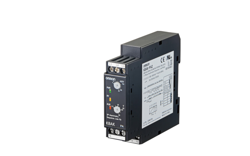 Omron K8DS-PA Ideal for 3-phase Voltage Asymmetry Monitoring for Industrial Facilities and Equipment. 17.5