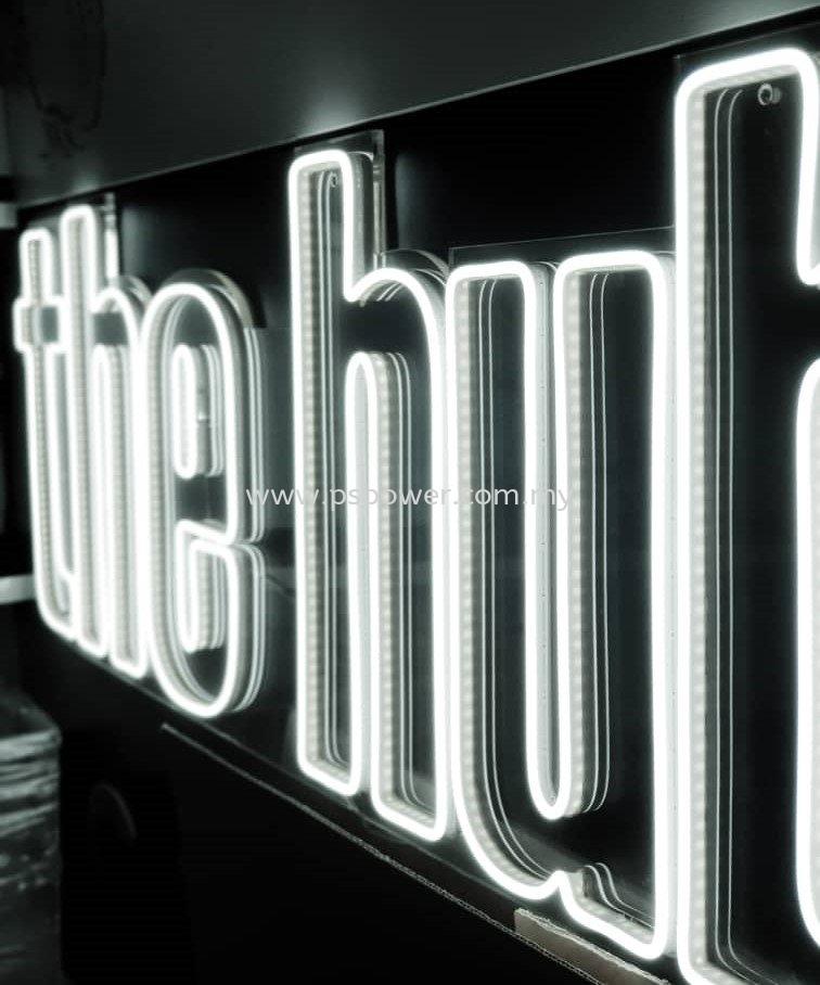 Retail Store White LED Signage