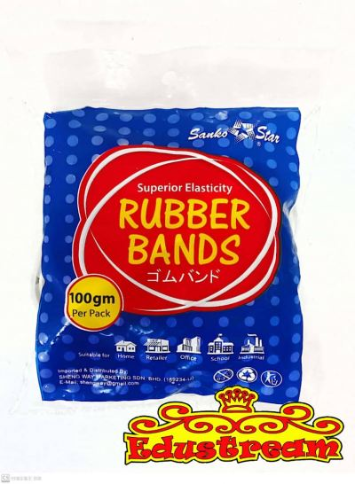 Sanko Star Rubber Bands (100gm per Pack)
