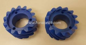 Blue Cast Nylon Fabrication with Gear