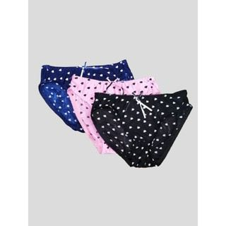 3 pcs / Ladies Panties Sexy Bikini Underwear Bottom with bright look Patterns FREE SIZE