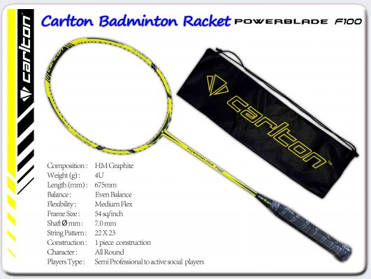 Carlton Badminton Racket Powerblade F100