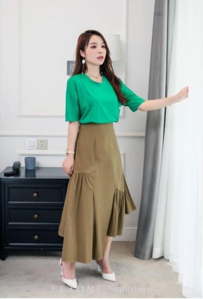 MZ6663 Asymmetrical Hem Skirt