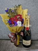 Moet and Chandon Brut Imperial Champagne + Flower