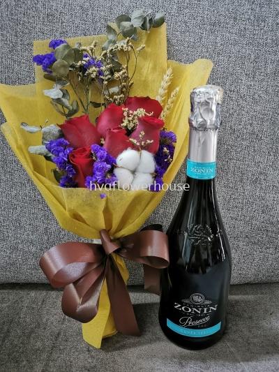 Zonin Prosecco DOC + Flower