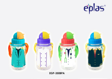 EPLAS-350ML BPA FREE KID'S BOTTLE WITH STRAW