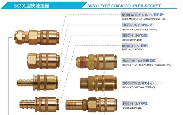 TAIWAN STANDARD BK301 MOLD COUPLER