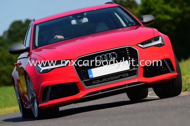 AUDI A6 C7 2016 RS6 LOOK FRONT BUMPER WITH GRILLE A6 2016 AUDI