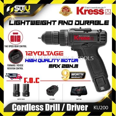 KRESS KU200 12V Cordless Drill / Driver 9Month Warranty