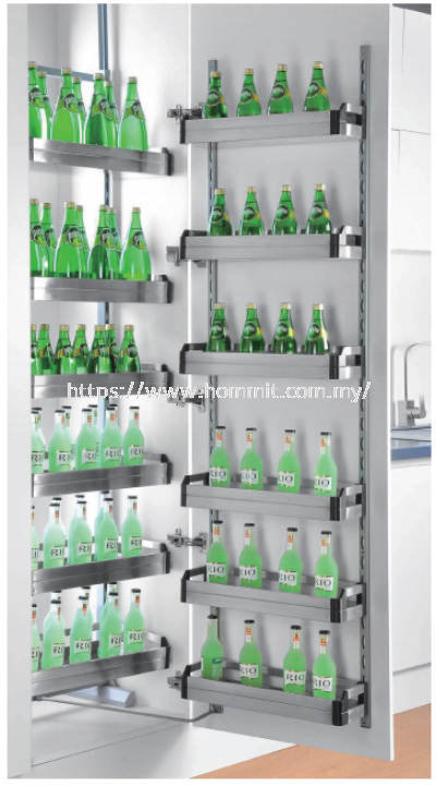Stainless Steel Tall Tandem Pantry Unit