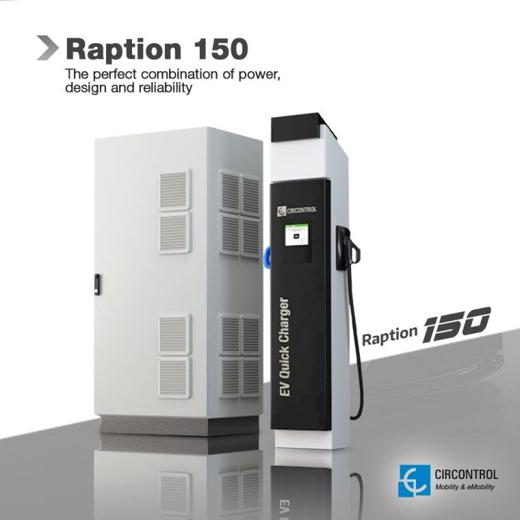 Circontrol - Raption 150 Raption CIRCONTROL EV Charger