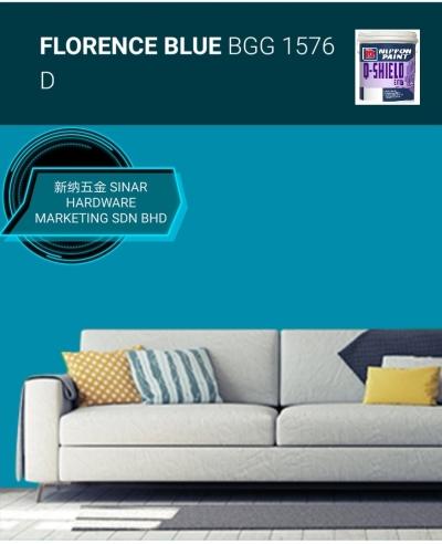 NIPPON EXTERIOR PAINT Q SHIELD - BGG1576D FLORENCE BLUE