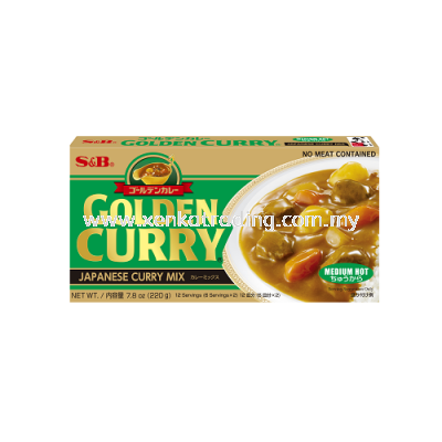 XK174 Medium Hot S&B Golden Curry Mix 220GM (JAPAN)