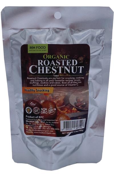 MH Food Organic Roasted Chestnut (Peeled)100gm