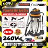 Europower VAC8003 / Ogawa BF585-3 Wet & Dry Stainless Steel Vacuum Cleaner 80Litre 3000w Vacuum Cleaner Cleaning Equipment