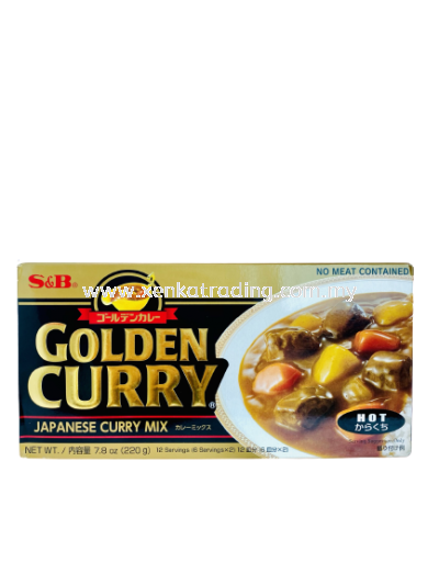 XK096 S&B Golden Curry Flakes Hot 220GM (JAPAN)