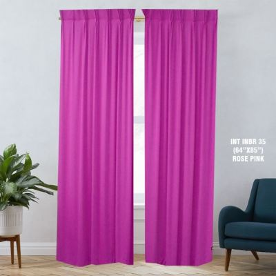 1 SET CURTAIN INTERLOCK BR ROSE PINK (60''X85'') (2PCS)