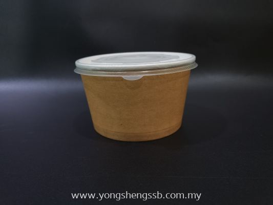 GL PAPER BOWL (600PCS/CTN) (850cc) WITH LID