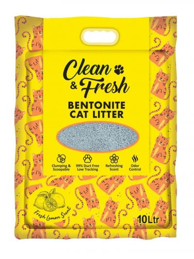 60115 Clean & Fresh 10L Cat Litter - Lemon