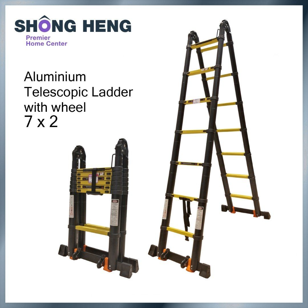 Telescopic Multipurpose Ladder KME3044Y - Double 2.2m+2.2m