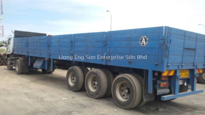 OPEN CARGO TRAILER 3 AXLE 41 FT