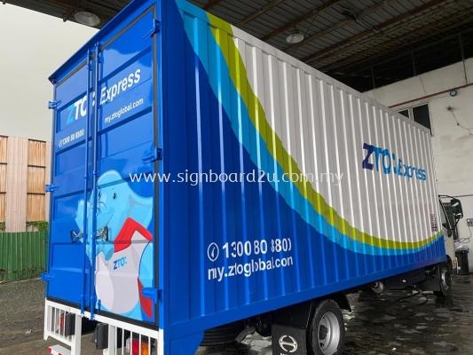 ZTO EXPRESS BOX TRUK BODY STICKER AT SHAH ALAM SELANGOR