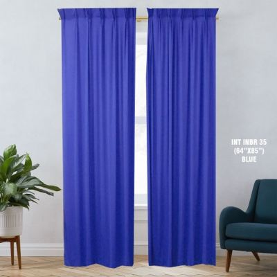 1 SET CURTAIN INTERLOCK BR BLUE (60''X85'') (2PCS)